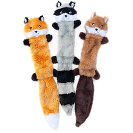 5-ZippyPaws - Skinny Peltz No Stuffing Squeaky toy 6-Our Pets IQ Treat Ball & IQ Treat Activity Dog Tug Toy
