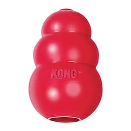 4-KONG - Classic Dog Toy, Durable Natural Rubber- Fun to Chew